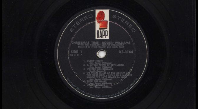 Roger Williams – Christmas Time – 1964 – Vinyl Record Full Album Rip
