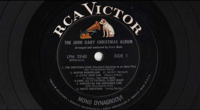 The John Gary Christmas Album – 1964 – Vinyl Record Full Album Rip