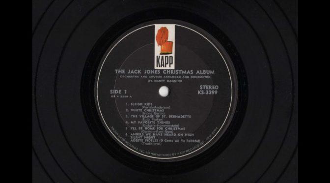 The Jack Jones – Christmas Album – KS-3399 – 1964 – Vinyl Record LP Full Album