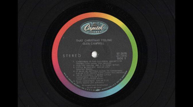 Glen Campbell – That Christmas Feeling – ST-2978 – 1968 – Vinyl Record LP Full Album