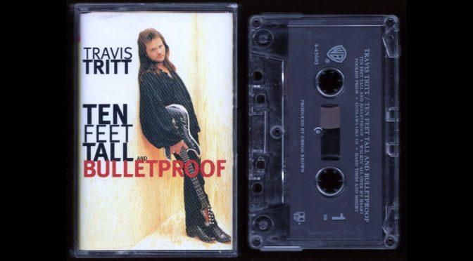 Travis Tritt – Ten Feet Tall and Bulletproof – 1994 – 9-45603-4 – Cassette Tape Full Album