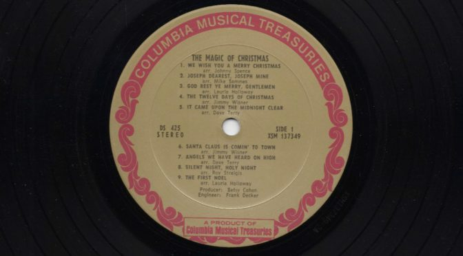 Columbia Musical Teasures LP1 – The Magic of Christmas – 1968 – Vinyl Record Full Album Rip