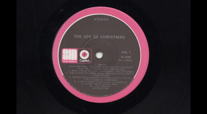 The Joy Of Christmas – Favorite Songs of Holiday Season – SL-6580 – Vinyl Record LP Full Album