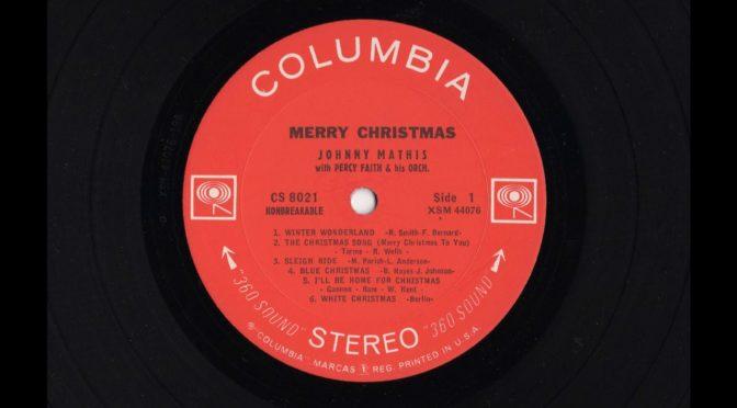 Merry Christmas – Johnny Mathis – CS 8021 – 1959 – Vinyl Record LP Full Album