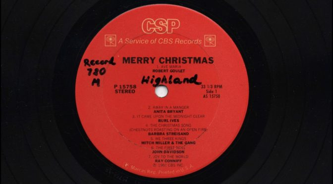 CBS Records – Merry Christmas – 1981 – Vinyl Record Full Album Rip