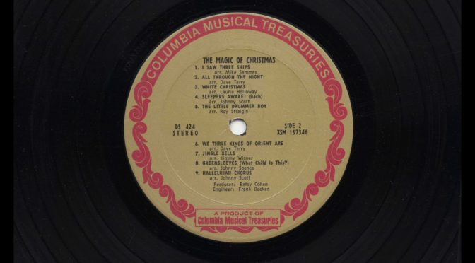 Columbia Musical Teasures LP2 – The Magic of Christmas – 1968 – Vinyl Record Full Album Rip